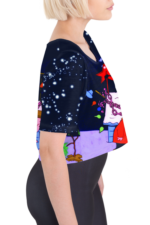 Charlie Brown Christmas Tee Crop