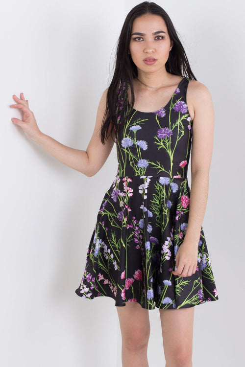 Collecting Wildflowers Pocket Skater Dress