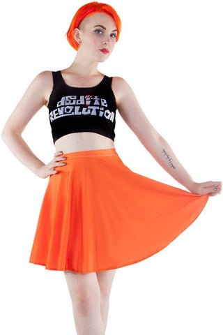 Flower Child Crop and Skater Skirt Set