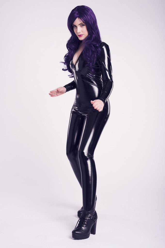 Black PVC Catsuit - MADE TO ORDER