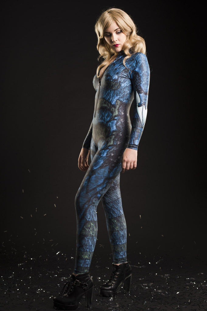 Dragon Queen Catsuit Blue - MADE TO ORDER