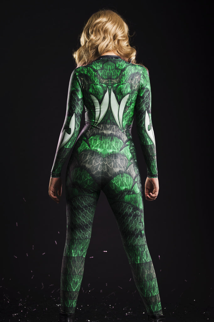 Dragon Queen Catsuit Green - MADE TO ORDER