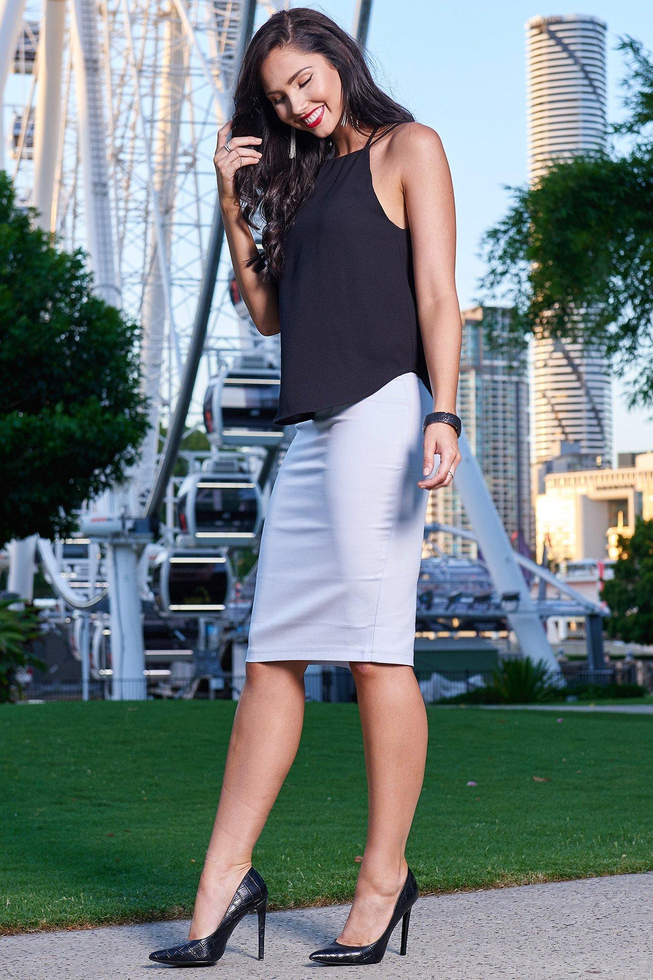 Flirtini Top/ Blue Hawaii Pencil Skirt - LIMITED