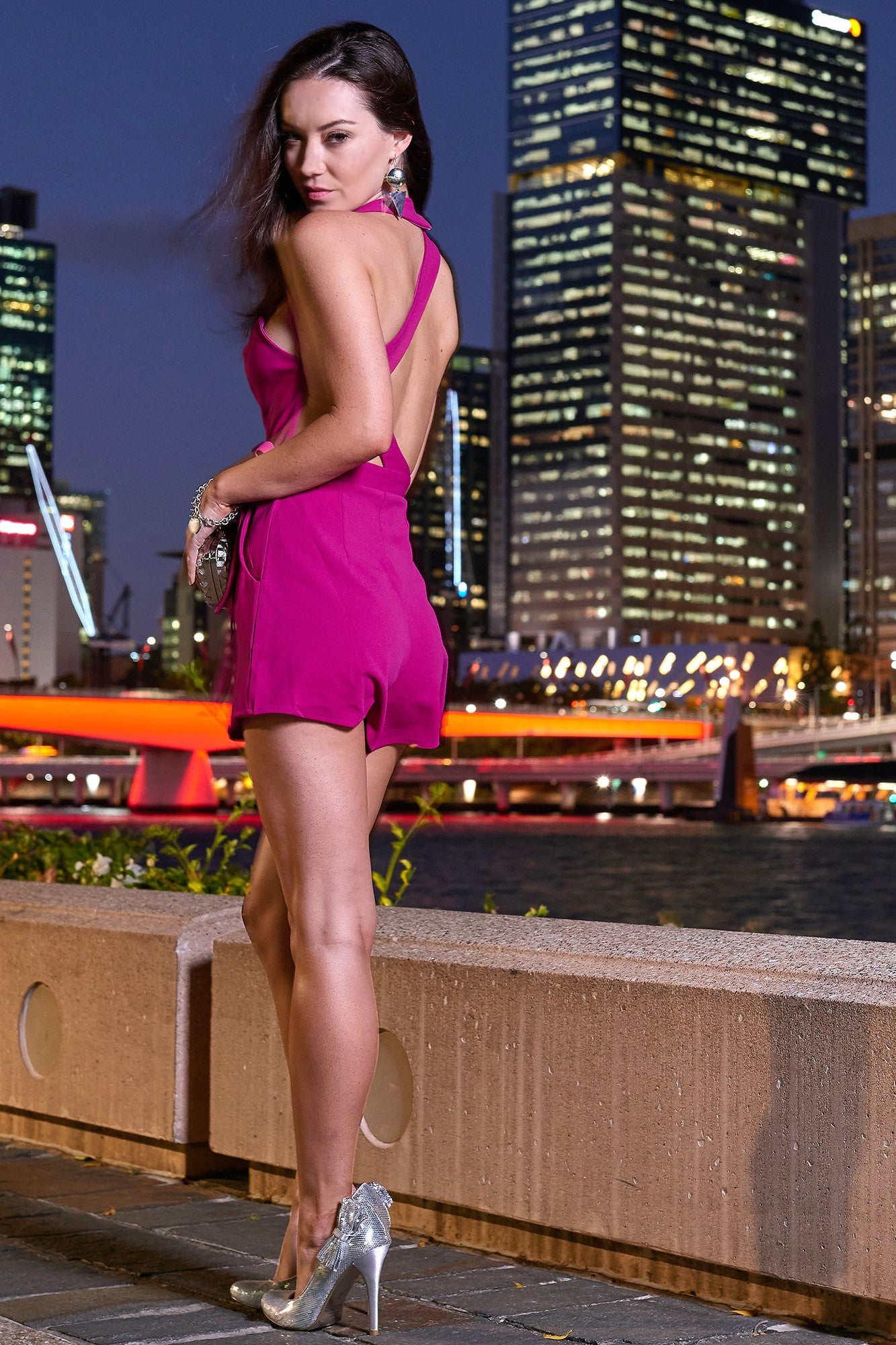 Mimosa Fuchsia Playsuit - LIMITED