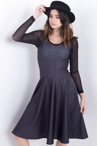 Daria Collage Midi Skater Dress