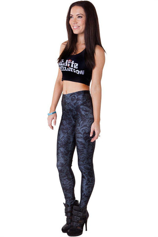 Blue Dragon Queen Leggings