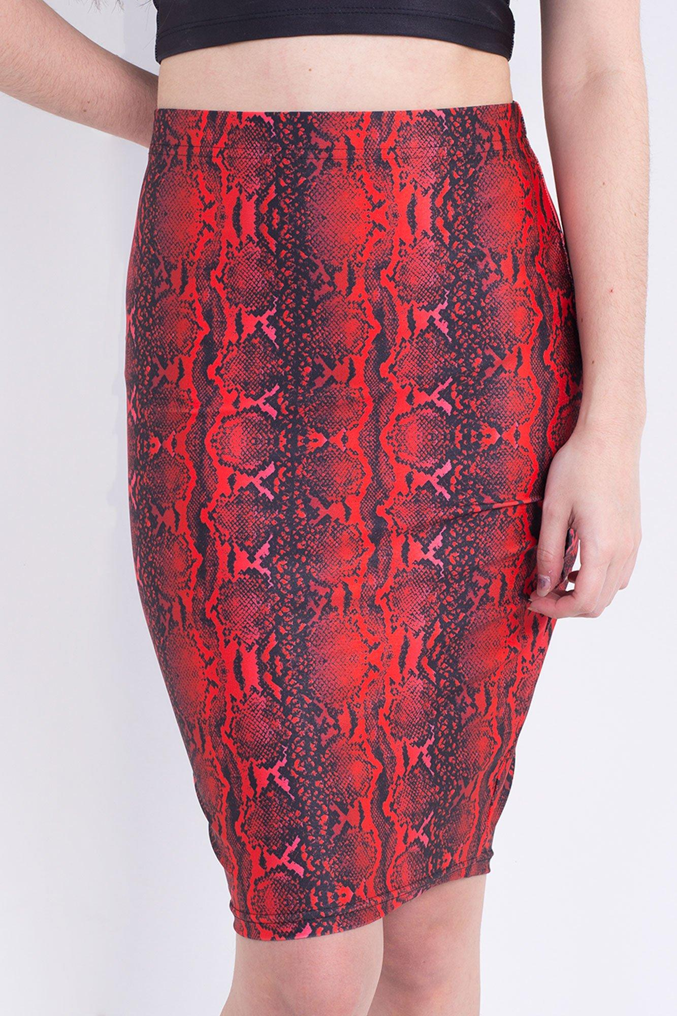 Dragon Serpent Scale Pencil Skirt