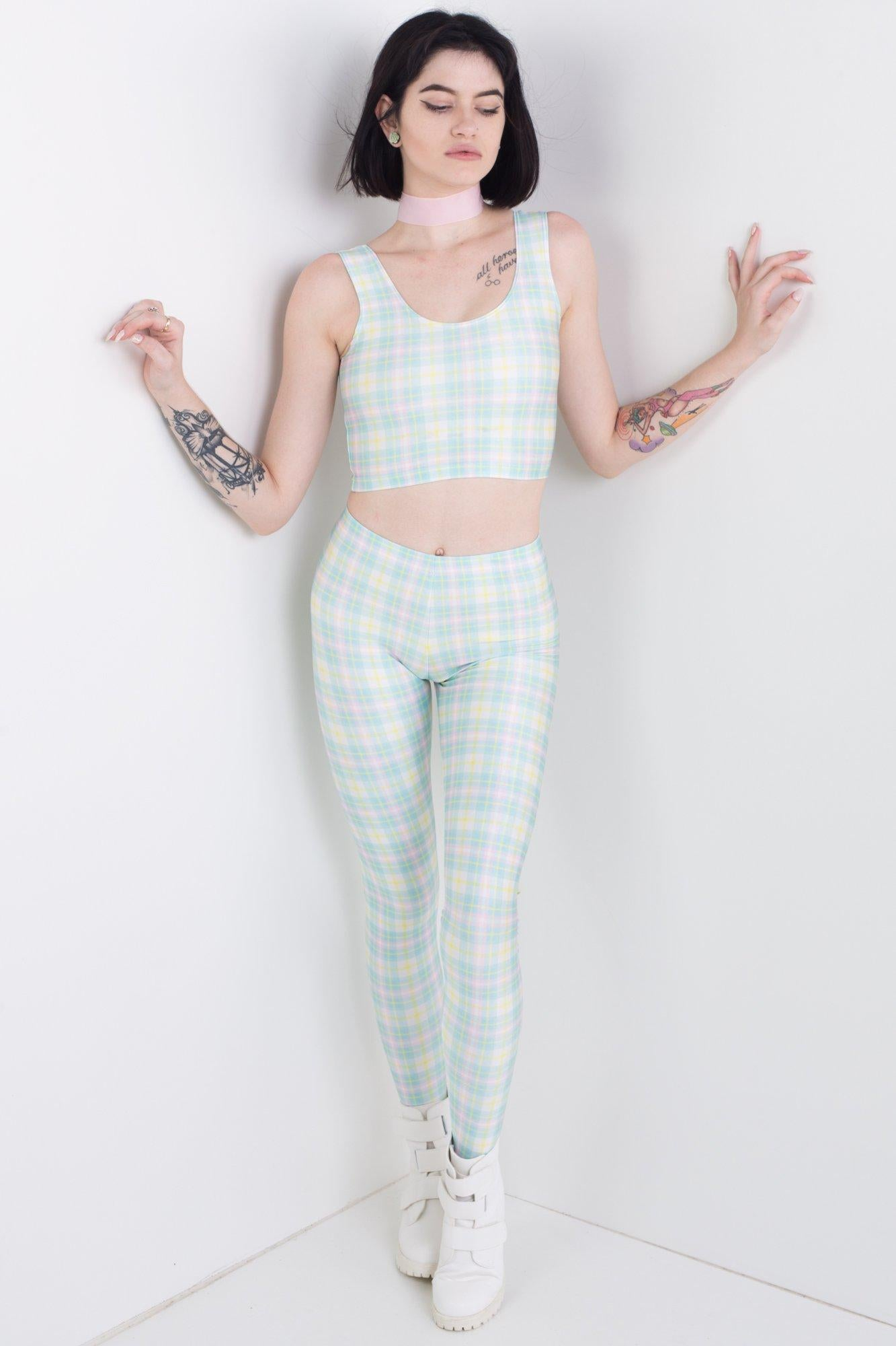 Easter Plaid Leggings