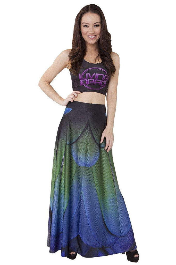 Feather Maxi Skirt - LIMITED