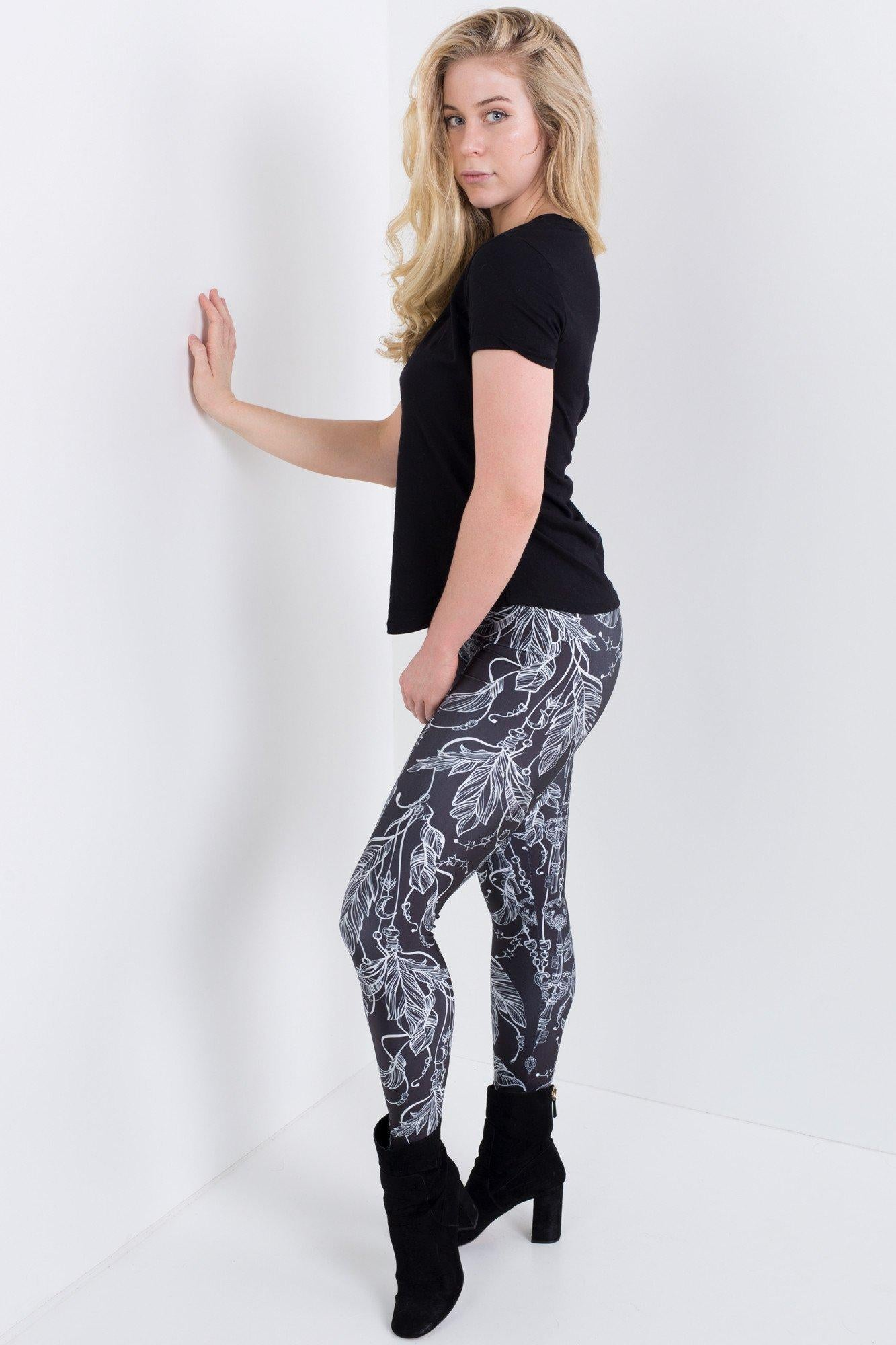 Feathers and Keys Leggings