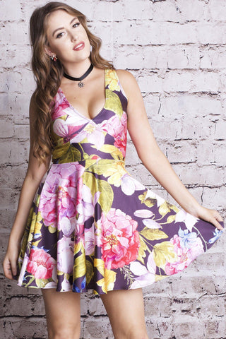 Pansy Fairy Happy Hour Dress