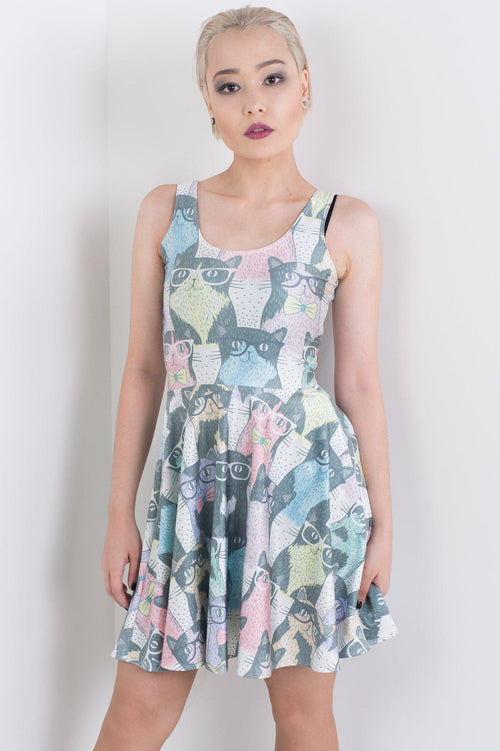 For The Love Of Cats Skater Dress