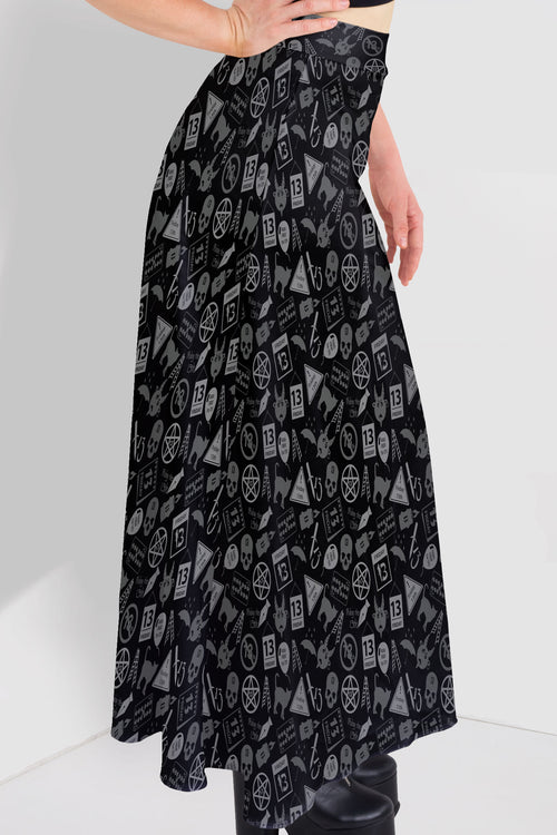 Friday The 13th Maxi Skirt