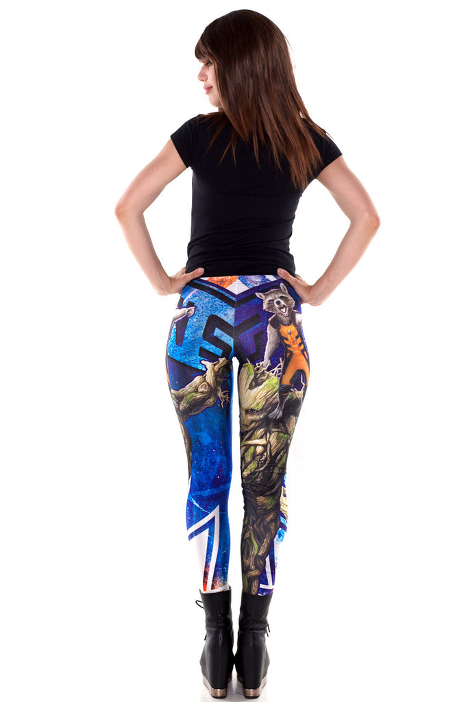 Rocket and Groot Leggings