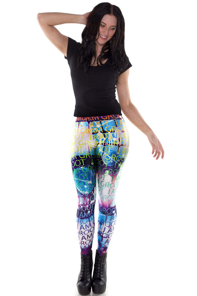 Intergalactic Groot Leggings