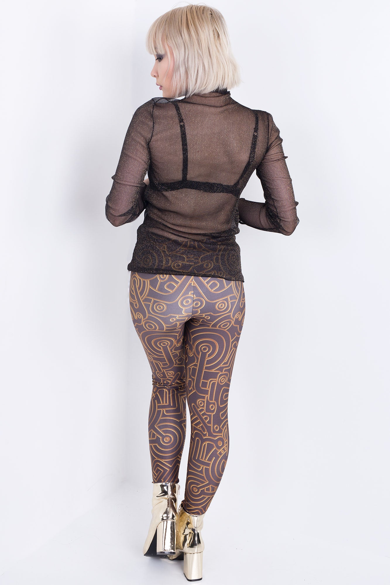 Golden Maze Leggings