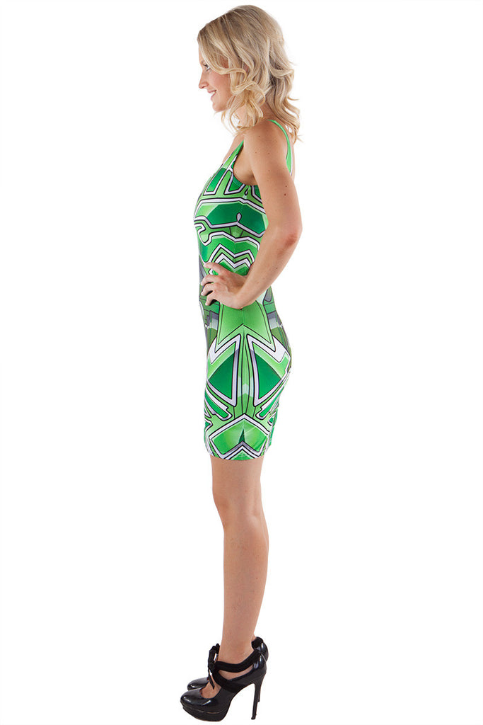 Green Bionic Bodycon - LIMITED