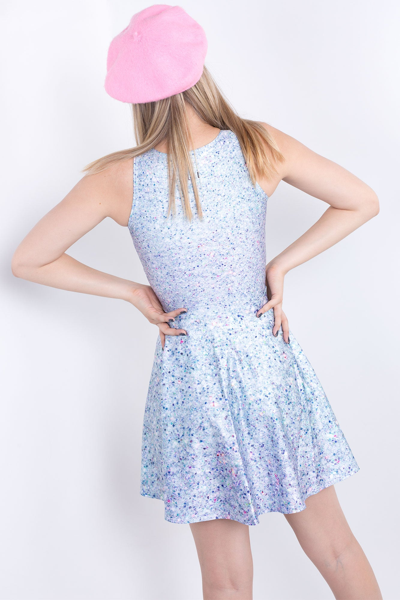 Holographic Glitter Vogue Dress
