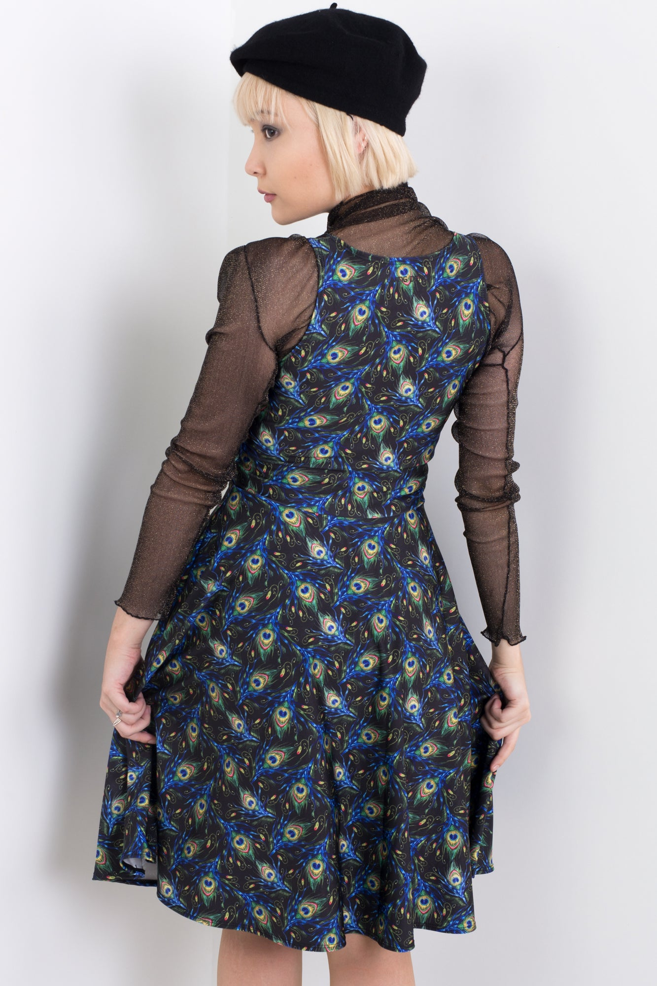 I Wanna See Your Peacock Midi Happy Hour Dress