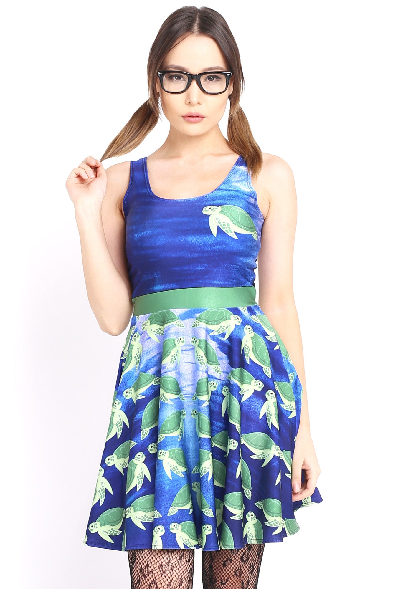 Turtley Awesome Skater Dress