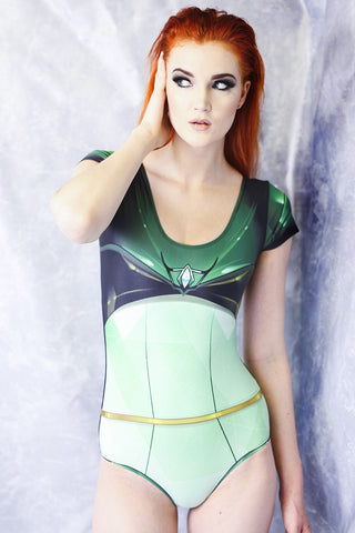 Red Space Heroine Bodysuit
