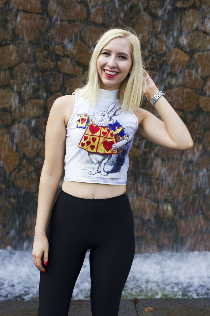 The White Rabbit High Neck Crop