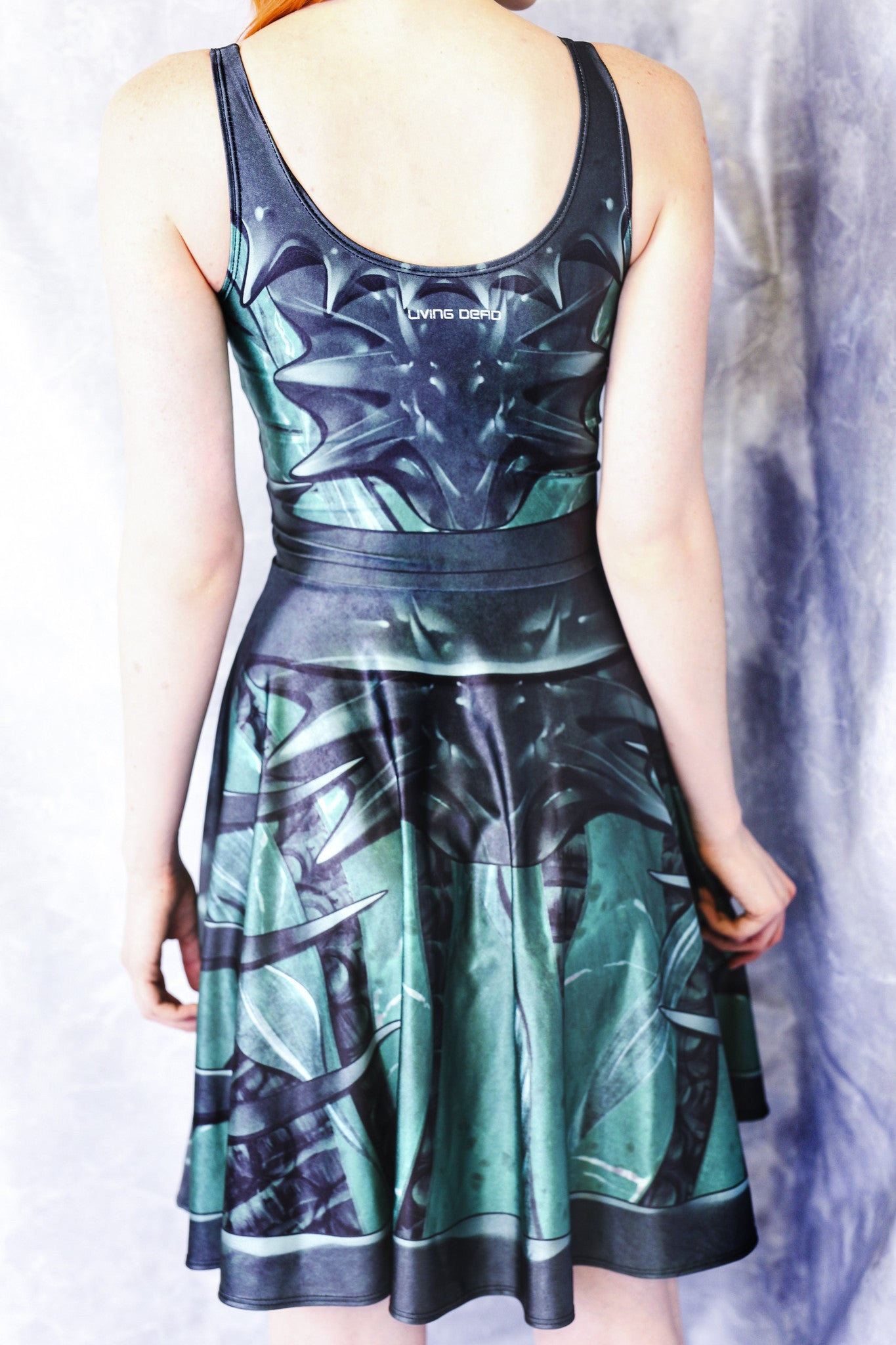Green Alien Queen Skater Dress