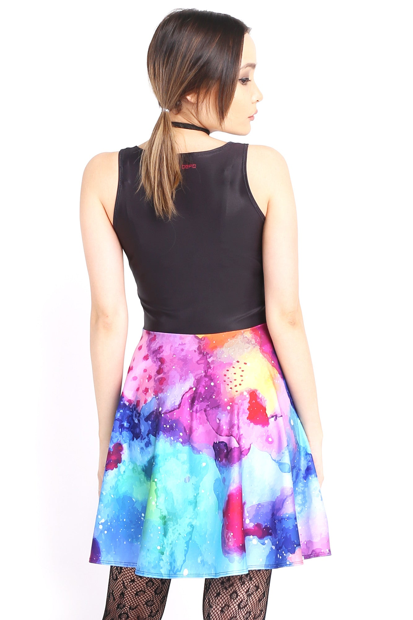 Watercolour Nebula Happy Hour Dress