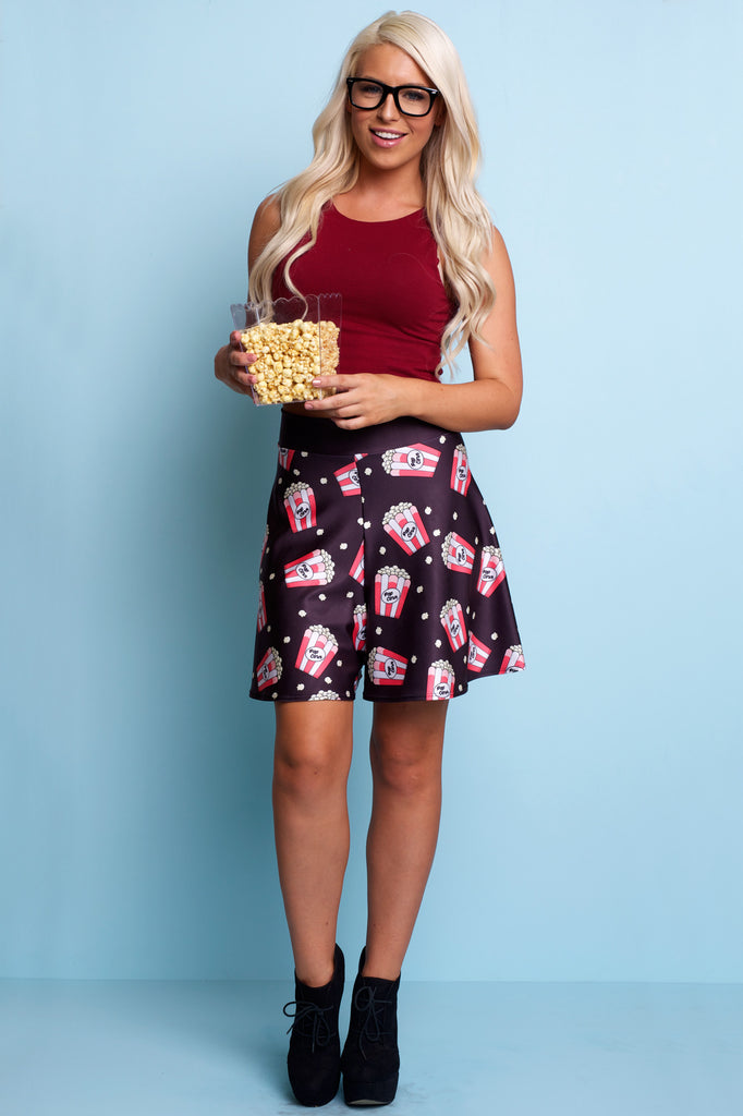Popcorn High Waisted Shorts