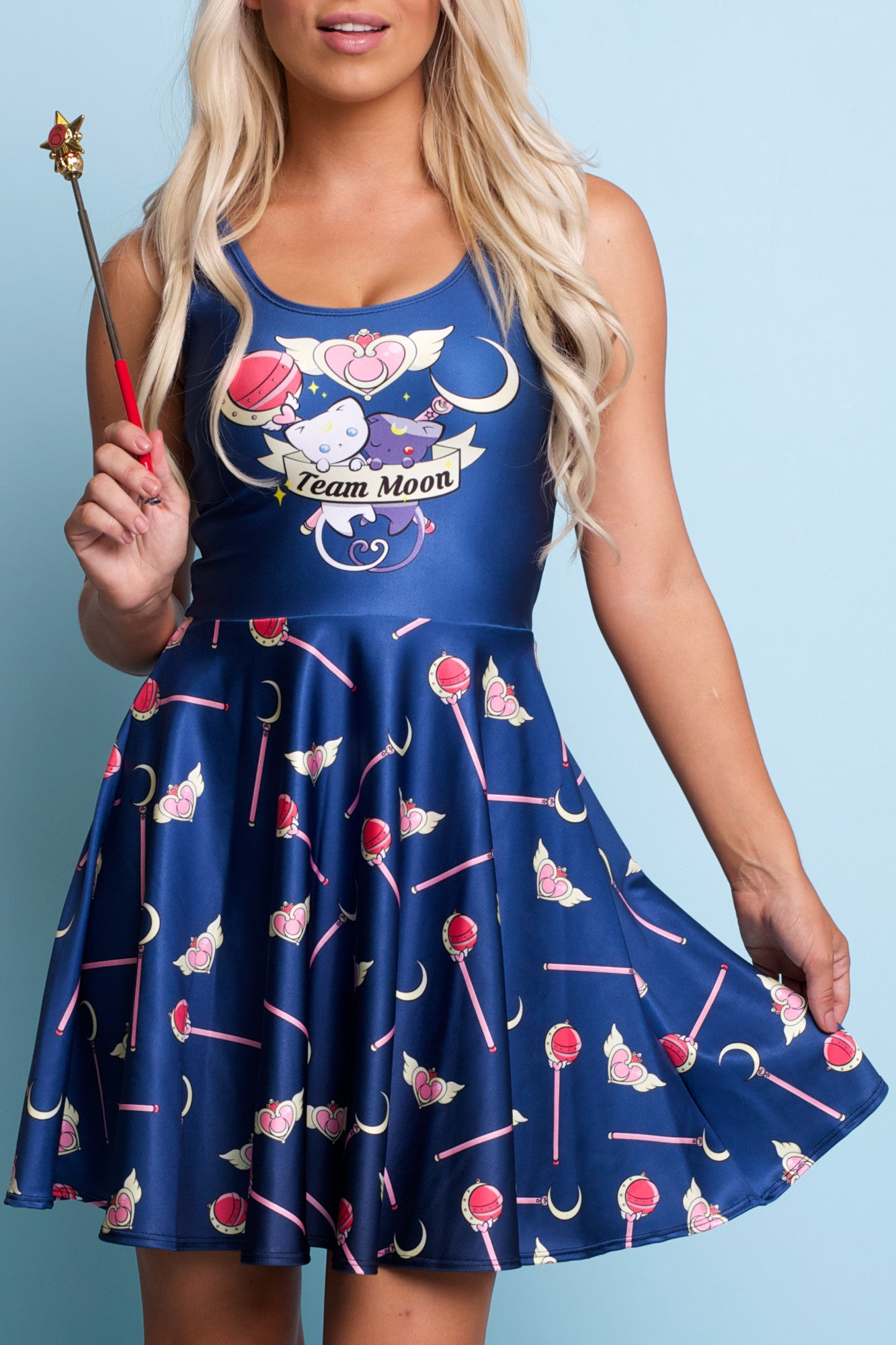 Team Moon Skater Dress