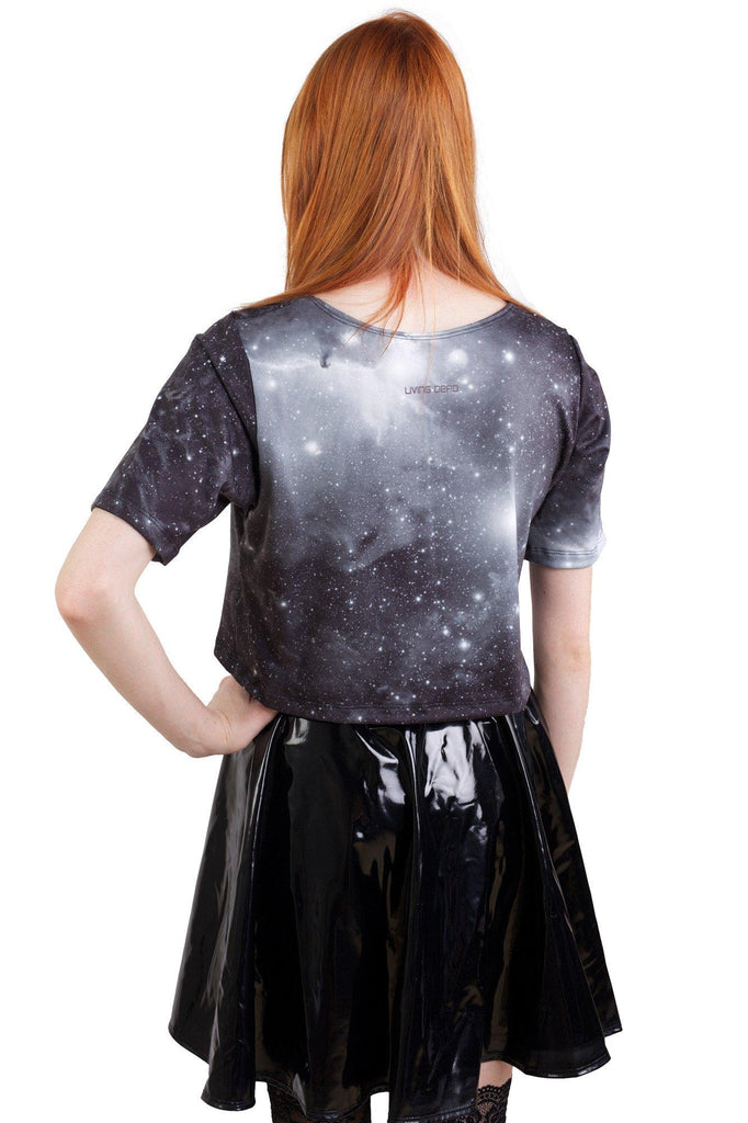 Caged Galaxy Tee Crop