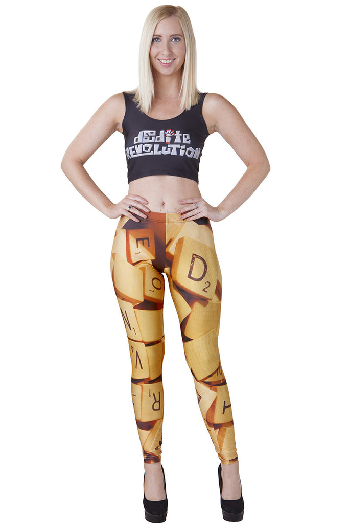 Scrabble Leggings - LIMITED