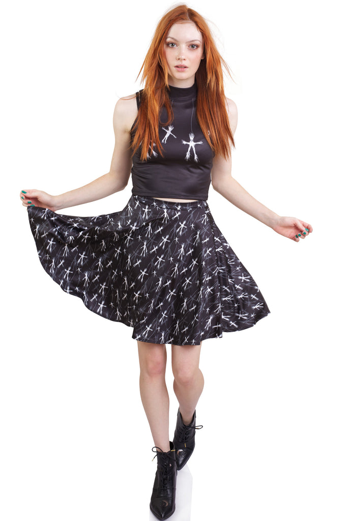 Who's Out There High Crop and Who's Out There Skater Skirt Set
