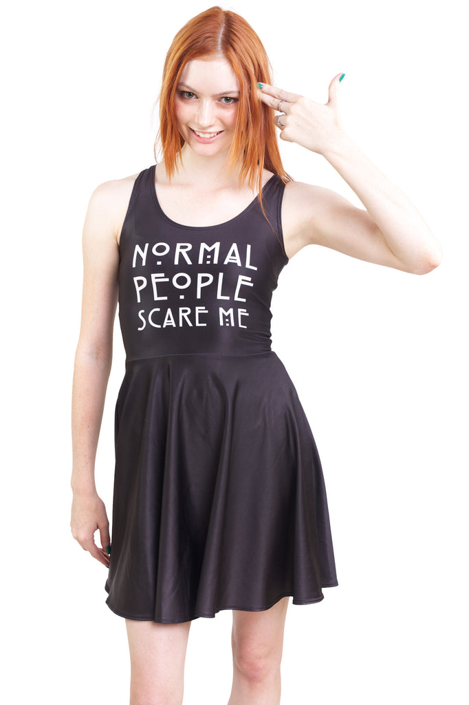Normal People Scare Me Skater Dress