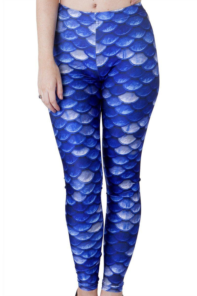 Blue Scale Leggings