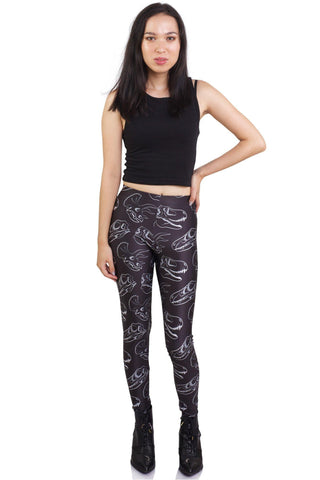 Black Damask Leggings