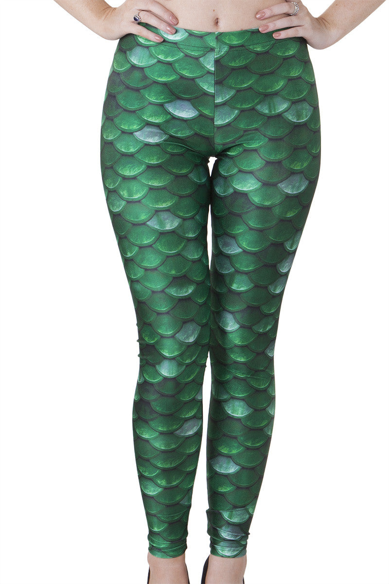 Green Scale Leggings - LIMITED