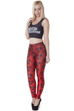 Red Biohazard Leggings