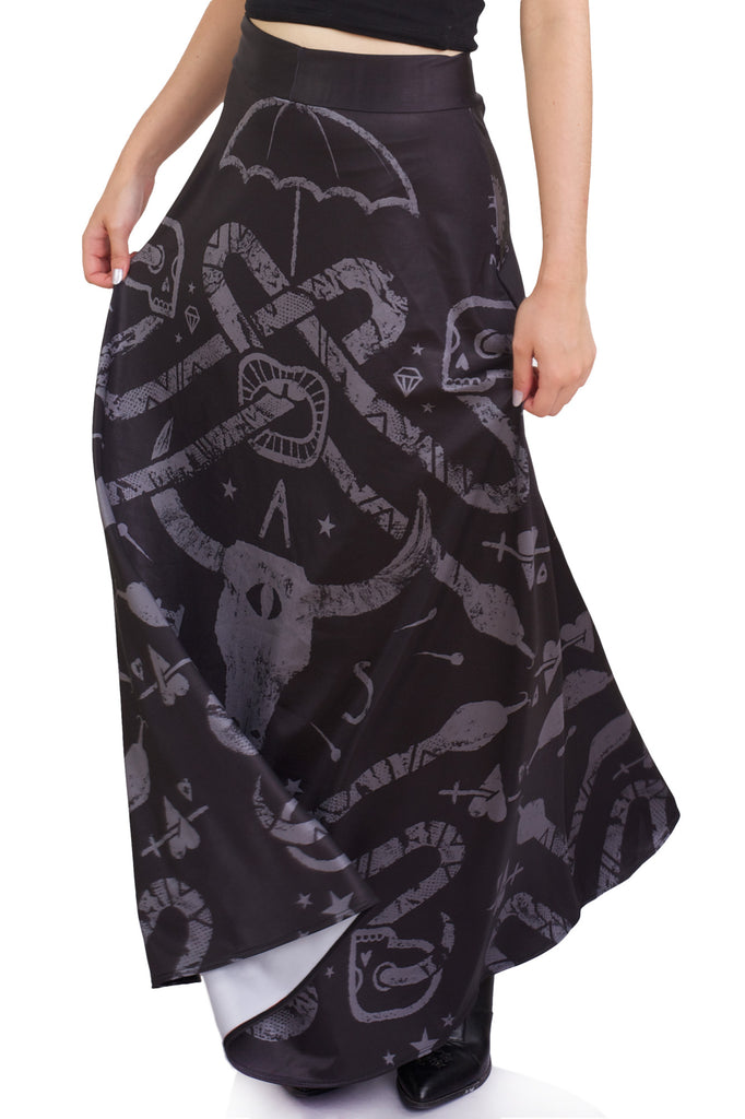 Go To Hell Maxi Skirt
