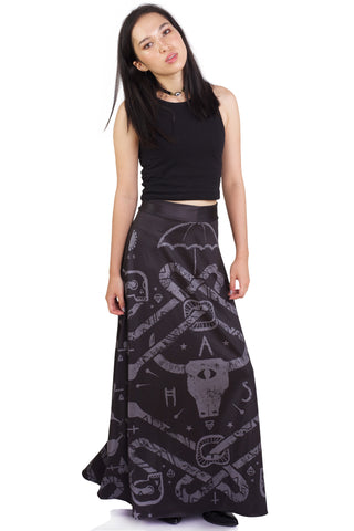 Surprise B*tch High Crop and Unholy Night Pocket Skater Skirt Set