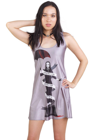 Normal People Scare Me High Crop and Monsters Among Us Maxi Skirt Set