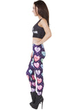 Sweet Candy Heart Leggings
