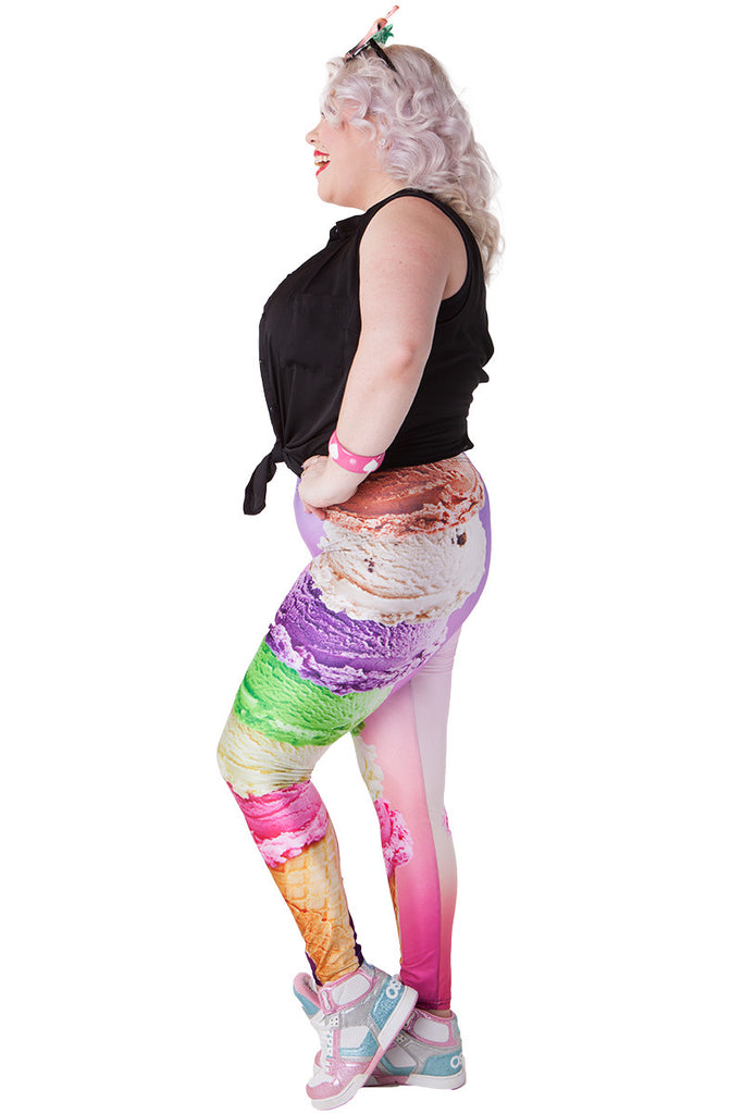 Ice Cream Tower Leggings - LIMITED
