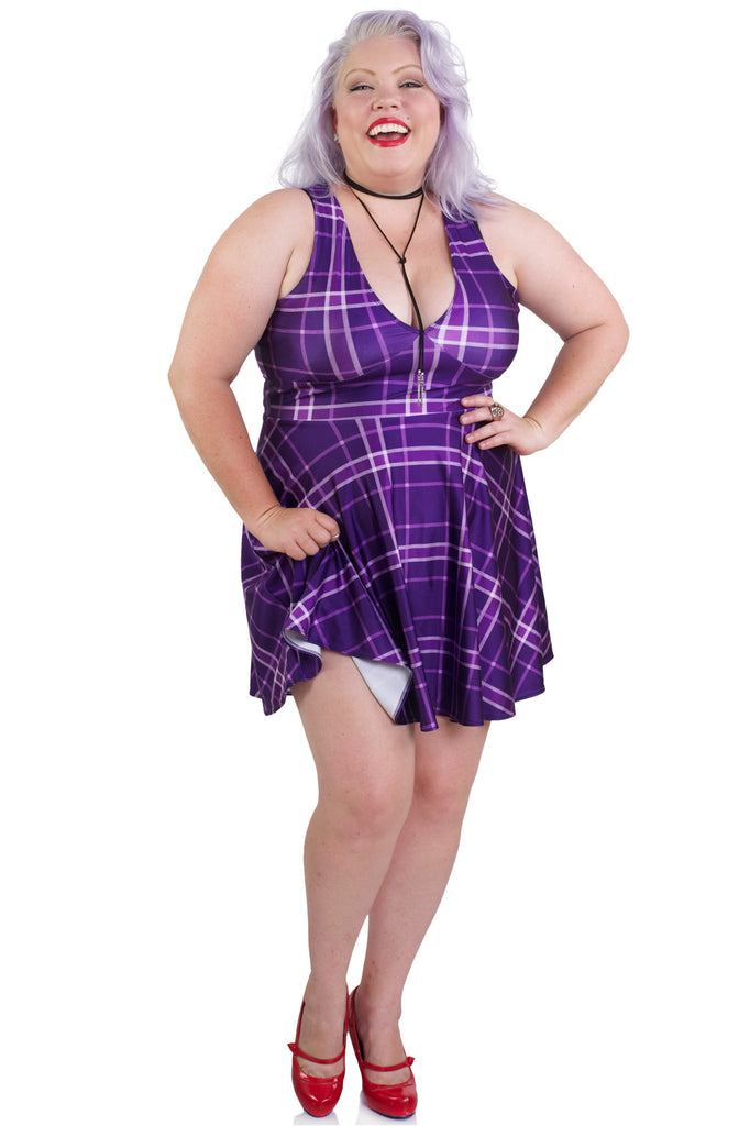 Pretty in Plaid Happy Hour Dress
