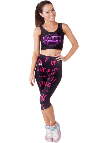 Blue Dragon Queen Full Active Tights and Inspirational Tank SET