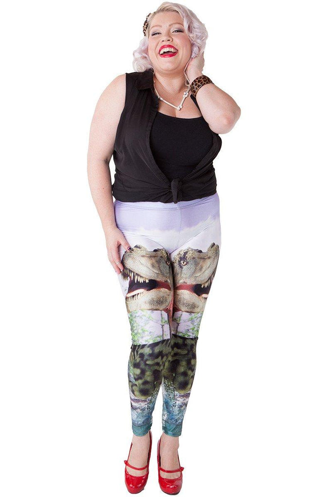 Dinosaur Hunt Leggings - LIMITED