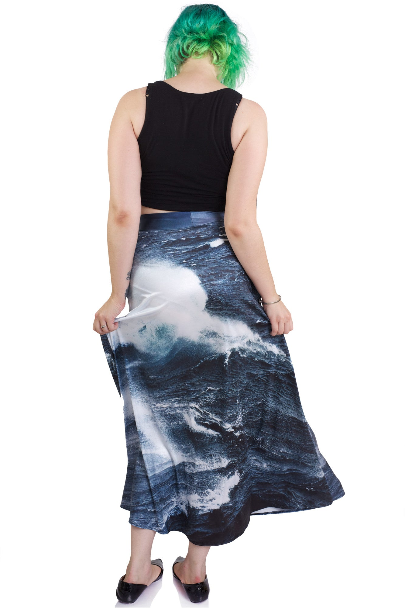 Sea Of Storms Maxi Skirt