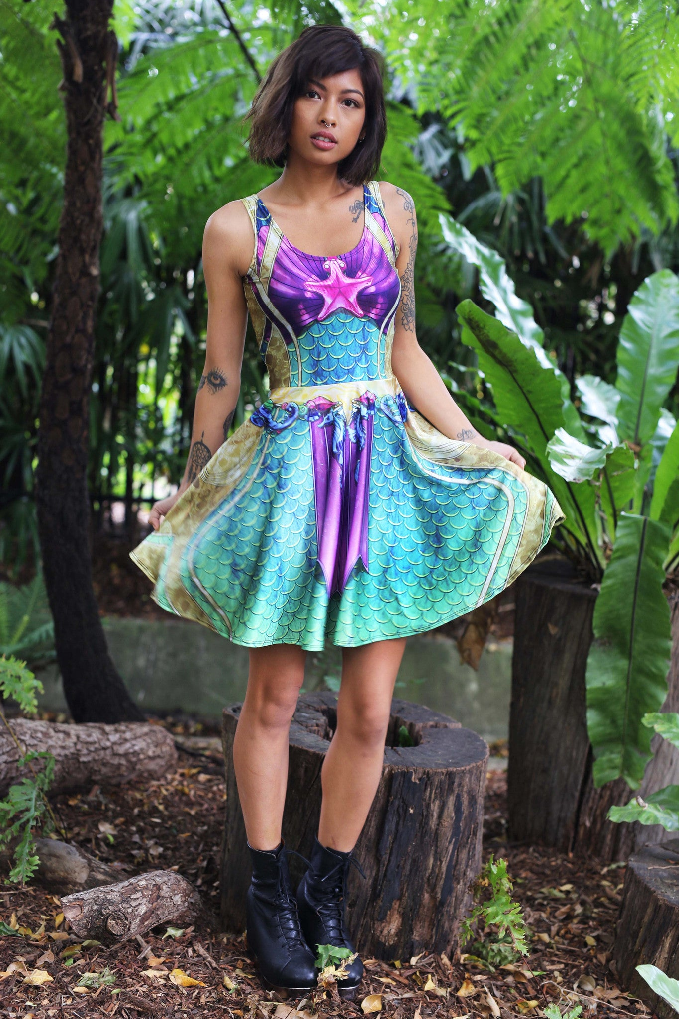 Water Nymph Skater Dress