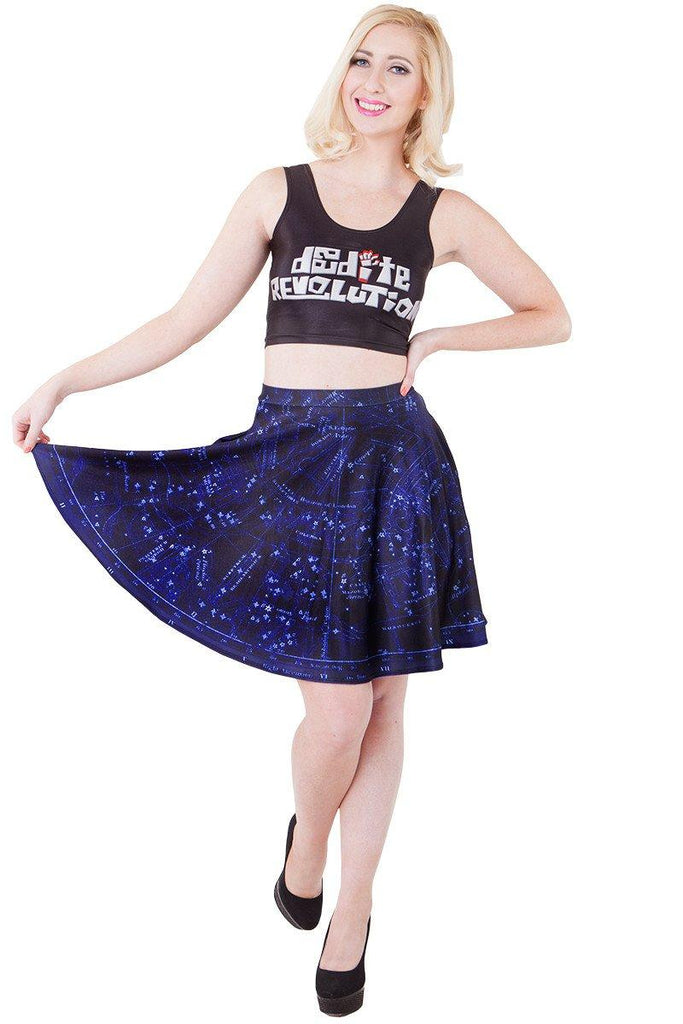 Constellation Pocket Skater Skirt