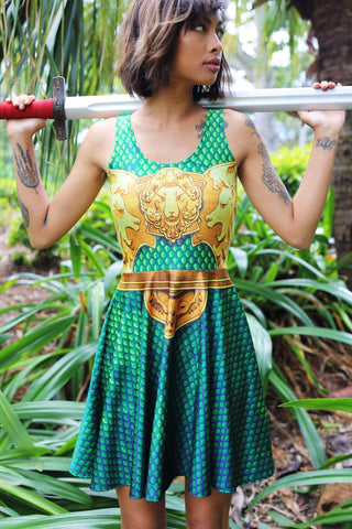 Green Dragon Queen High Neck Crop - LIMITED